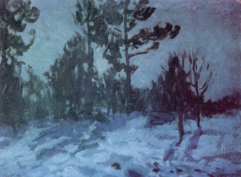 Winter night. 1910. Konstantin Alekseevich Korovin