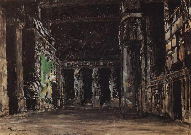 Храм Танит. 1909. Коровин Константин Алексеевич