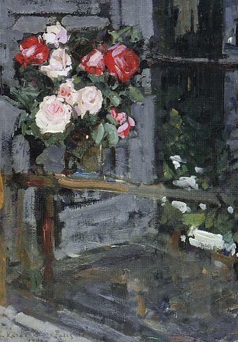 Розы. Вечер. 1908. Коровин Константин Алексеевич