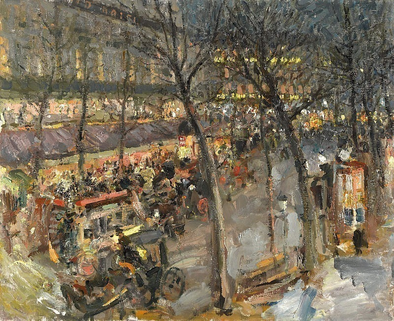 Paris. Cafe de la Paix. Konstantin Alekseevich Korovin