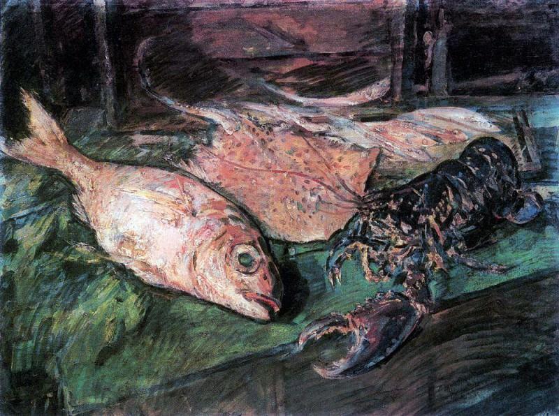 Still Life with Lobster. 1930. Konstantin Alekseevich Korovin