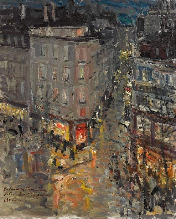 Paris. Boulevard Capuchinok. Konstantin Alekseevich Korovin