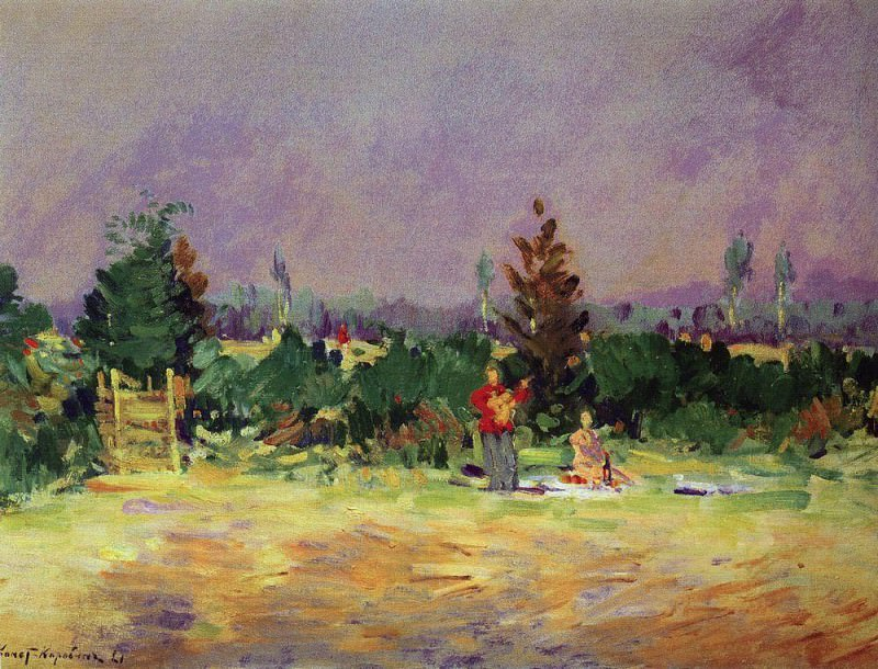 Hot day at Moscow. 1921. Konstantin Alekseevich Korovin