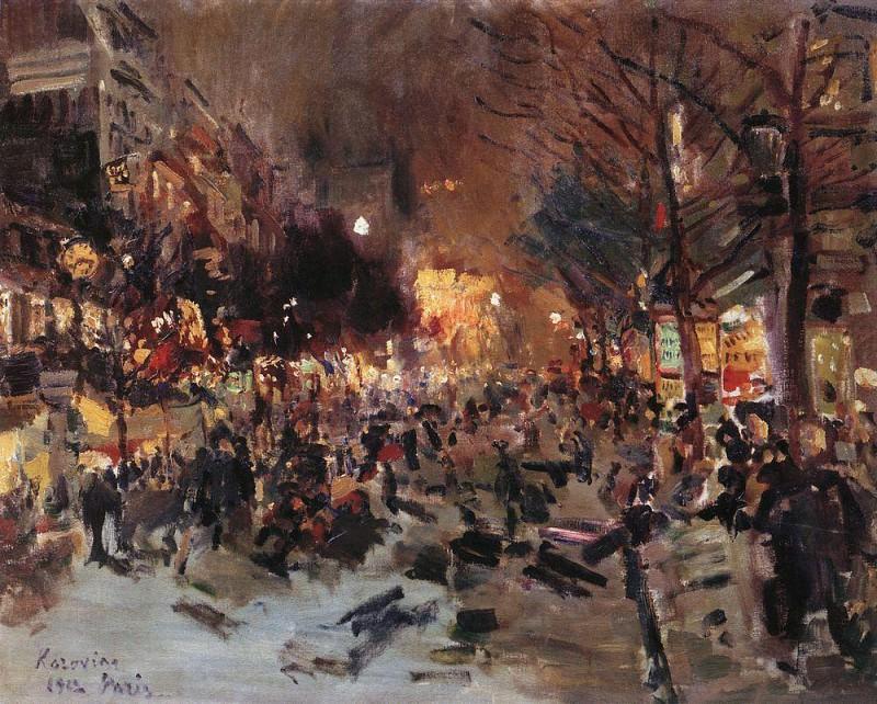 Boulevard in Paris. 1912. Konstantin Alekseevich Korovin