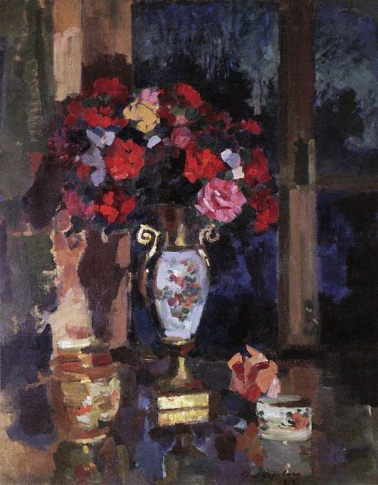 bouquet of paper roses. 1912. Konstantin Alekseevich Korovin