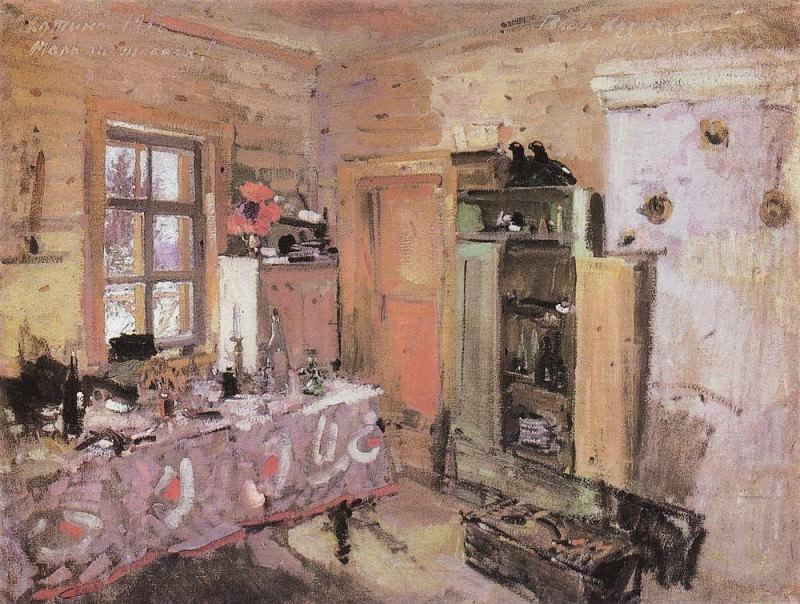 Interior. Okhotin. 1913. Konstantin Alekseevich Korovin