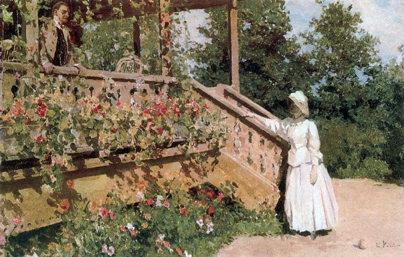 nasturtiums. 1888. Konstantin Alekseevich Korovin