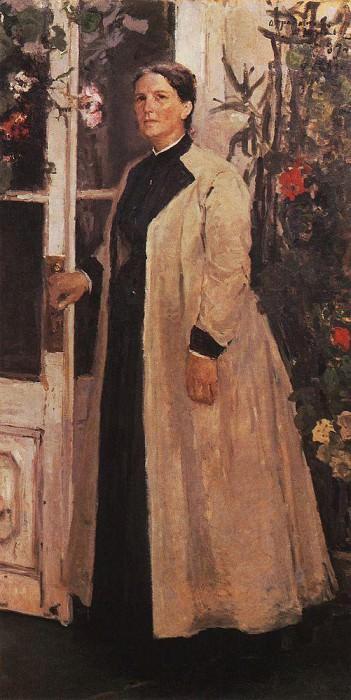 Portrait OP Orlova. 1889. Konstantin Alekseevich Korovin