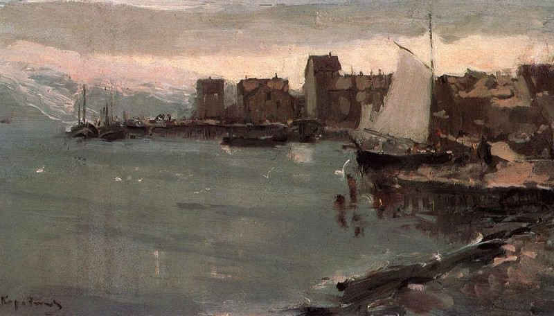 Harbor in Norway. 1894. Konstantin Alekseevich Korovin