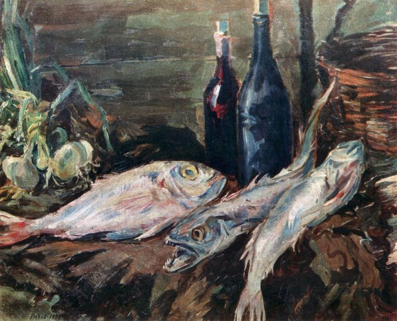 Still life with fish. 1930. Konstantin Alekseevich Korovin