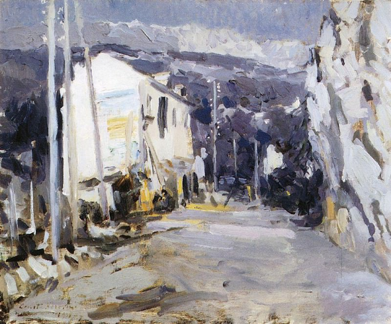 Road in the southern city. 1908. Konstantin Alekseevich Korovin