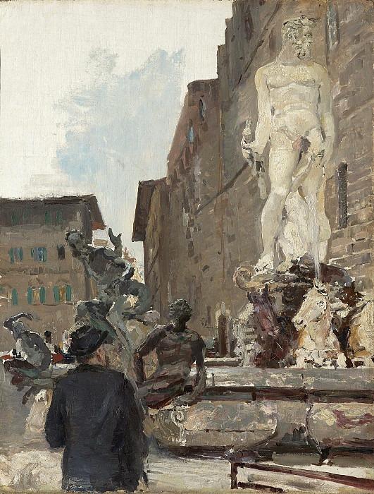 Savva Ivanovich Mamontov in Florence. Konstantin Alekseevich Korovin