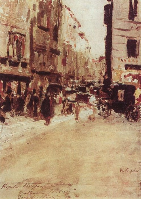 Milan. 1888. Konstantin Alekseevich Korovin