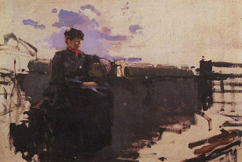 In the road. 1885. Konstantin Alekseevich Korovin