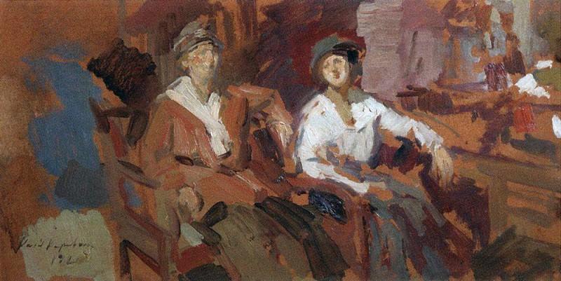Двое в креслах. 1921. Коровин Константин Алексеевич