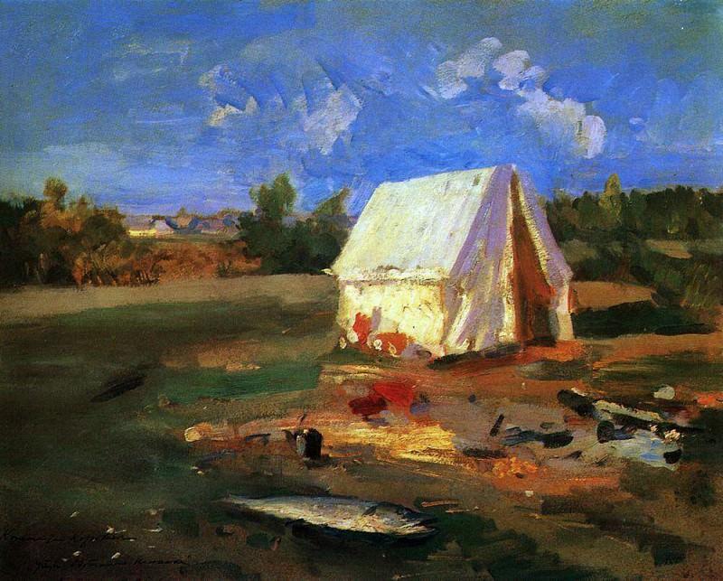 Утро. Охотничья палатка. 1914. Коровин Константин Алексеевич