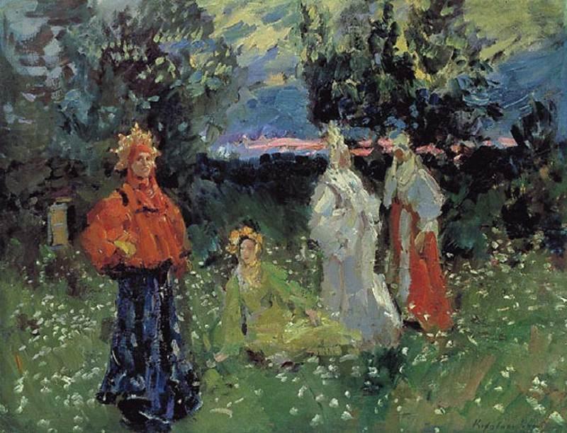 Spring rituals. Konstantin Alekseevich Korovin