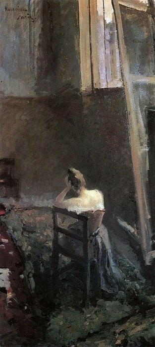 In the artists studio. 1892-1894. Konstantin Alekseevich Korovin