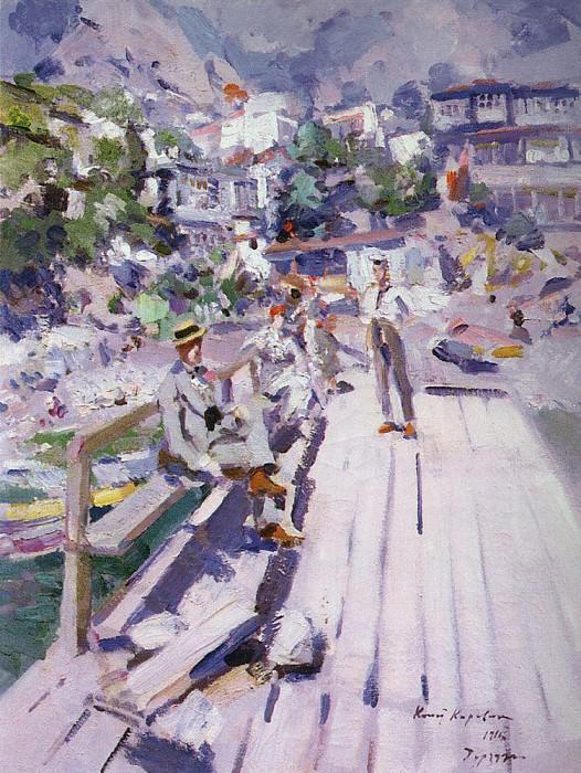 Pier in Gurzuf. 1916. Konstantin Alekseevich Korovin