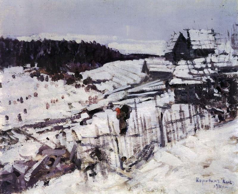 Winter. 1911. Konstantin Alekseevich Korovin