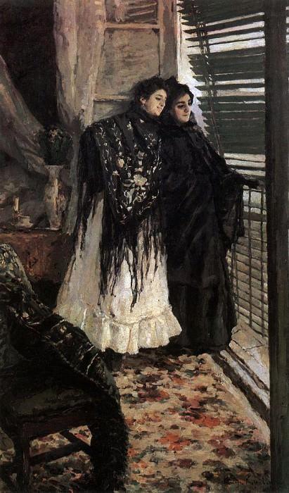 У балкона. Испанки Леонора и Ампара. 1888-1889. Коровин Константин Алексеевич