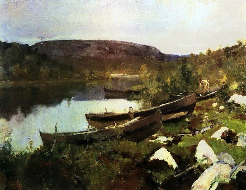 Stream Saint Tryphon in Pechenga. 1894. Konstantin Alekseevich Korovin