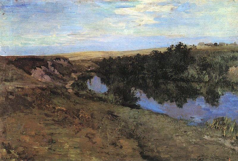 River in Menshov. 1885. Konstantin Alekseevich Korovin