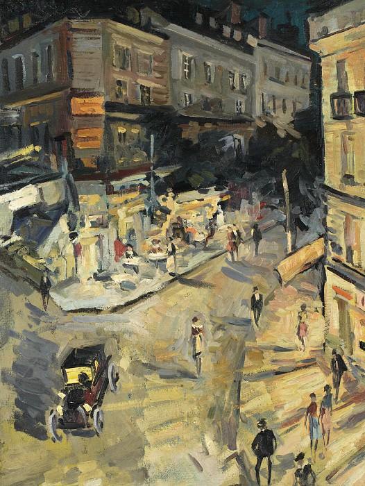 Rue de Paris in Vichy. Коровин Константин Алексеевич