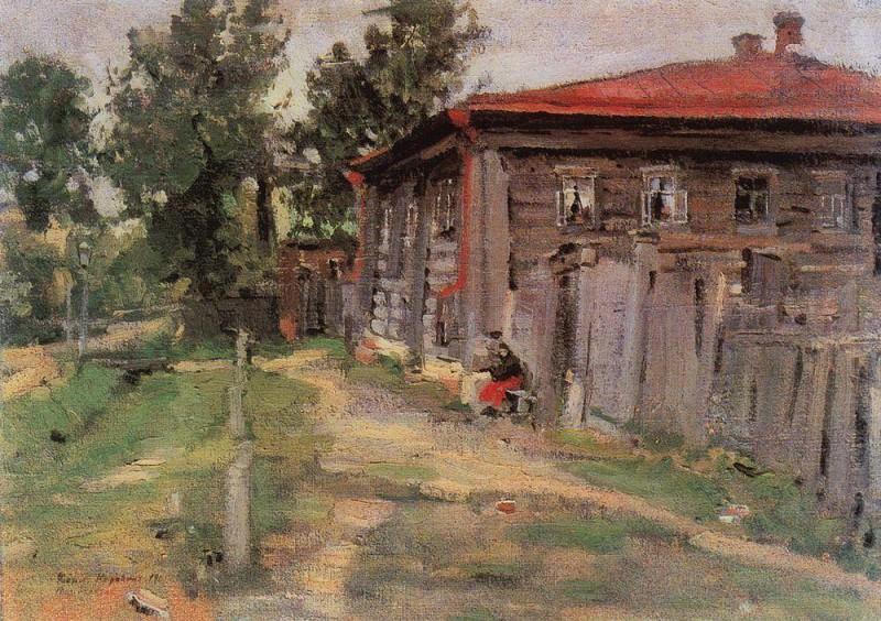 Уголок провинции (Улица в Переславле). 1905. Коровин Константин Алексеевич