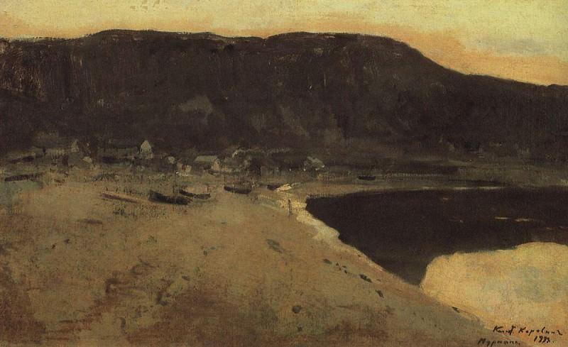 Murmansk coast. 1894. Konstantin Alekseevich Korovin