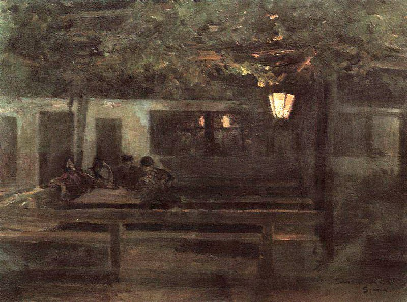 In the Spanish tavern. 1888. Konstantin Alekseevich Korovin