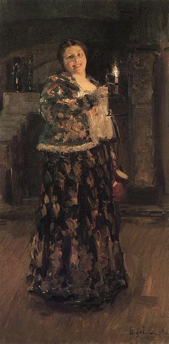 hostess. 1896. Konstantin Alekseevich Korovin