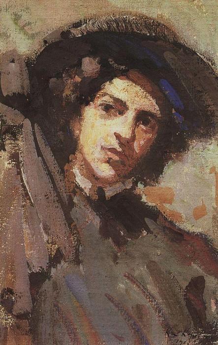 Portrait NI Komarovskaya. 1908. Konstantin Alekseevich Korovin