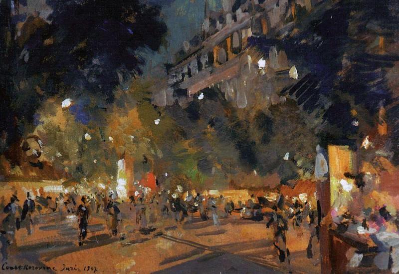 Paris. 1907. Konstantin Alekseevich Korovin