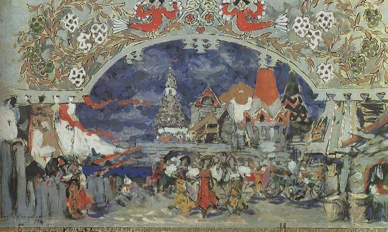 Emporium in Grad-capital. 1912. Konstantin Alekseevich Korovin