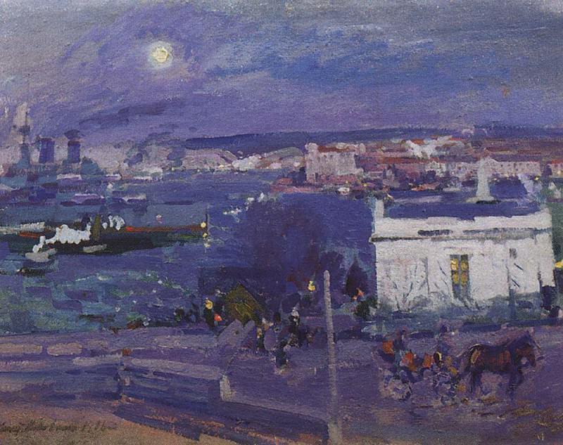 Harbour at Sebastopol. 1916. Konstantin Alekseevich Korovin