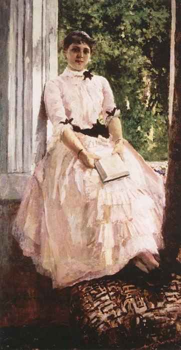 Portrait of Tatiana Spiridonovny Lyubatovich. The second half of 1880. Konstantin Alekseevich Korovin