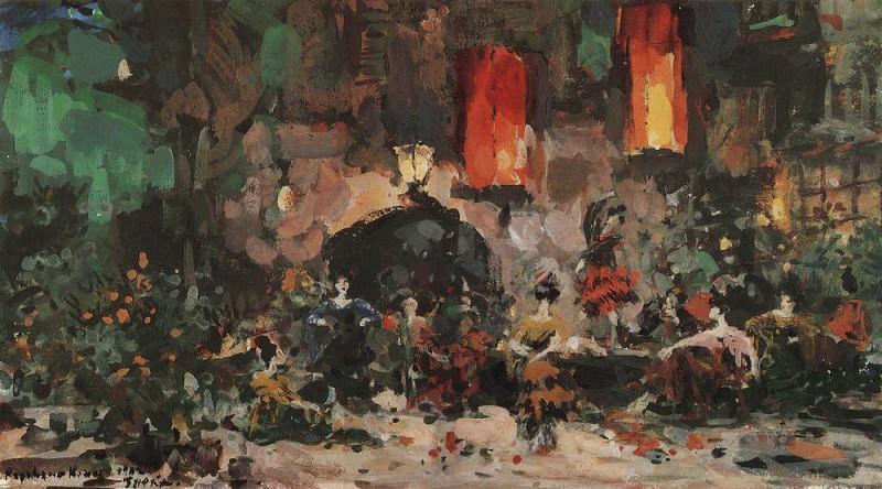 Испанский кабачок. 1902. Коровин Константин Алексеевич