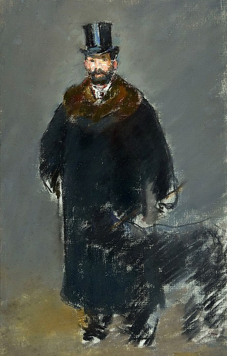 The Man with the Dog. Édouard Manet