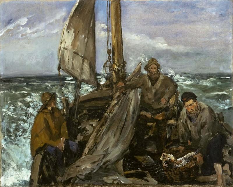 Рыбаки в море. Эдуард Мане
