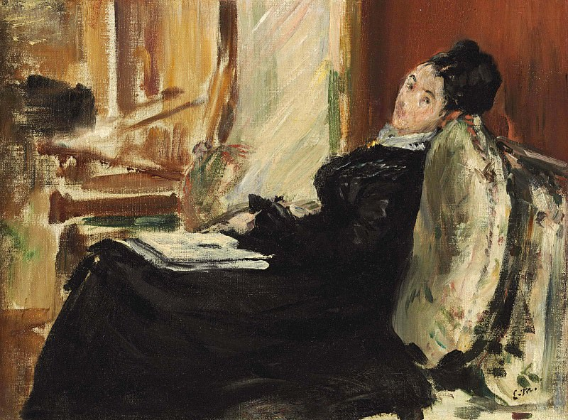 Young Woman with Book. Édouard Manet