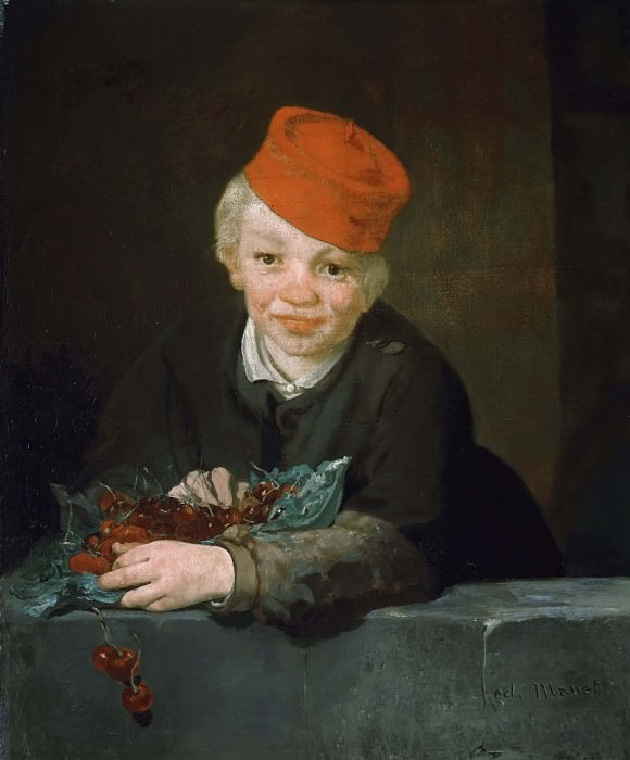 Boy with cherries. Édouard Manet
