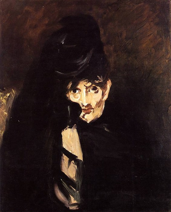 Portrait of Berthe Morisot with Hat, in Mourning. Édouard Manet