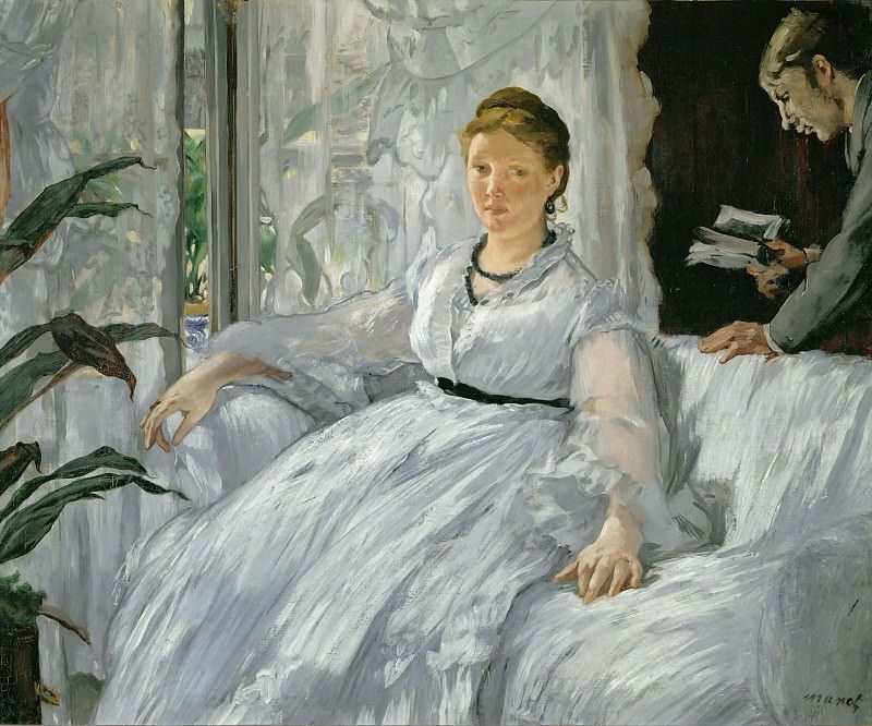 Mme. Manet and her son. Édouard Manet