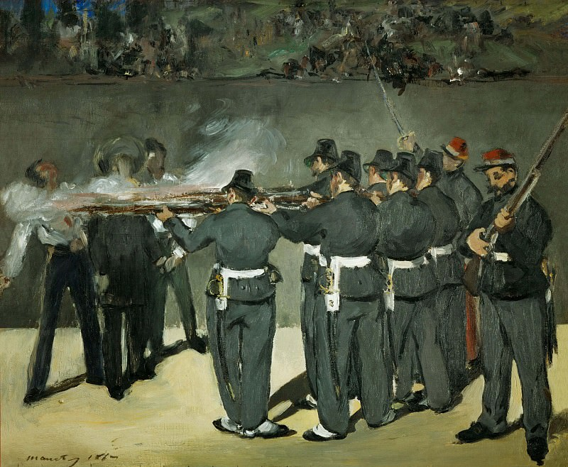 The Execution of the Emperor Maximilian. Édouard Manet