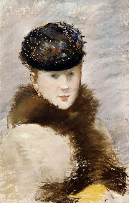 Mery Laurent Wearing a Small Toque. Édouard Manet