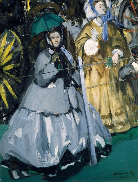 Women at the Races. Édouard Manet