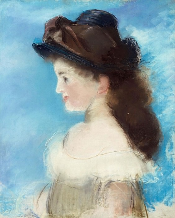 Portrait of Mademoiselle Hecht. Édouard Manet