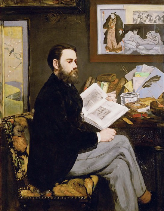 Portrait of Emile Zola. Édouard Manet