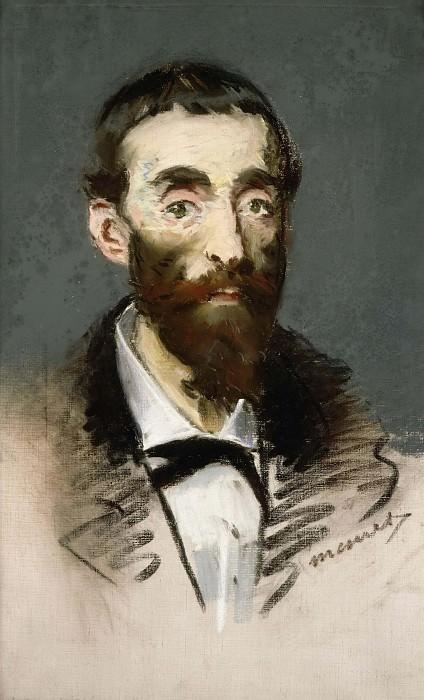 Portrait of Jean de Cabanes, musician. Édouard Manet
